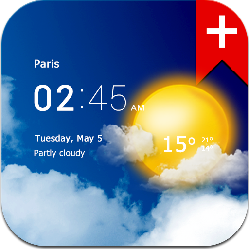 Transparent clock weather (Ad-free) 3.00.02